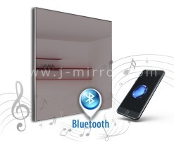 Spiegel met audio speakers alu 008 + Bluetooth
