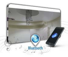 Spiegel met audio systeem Diana Inox Gloss + Bluetooth